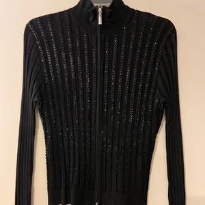 Black zipper sweater shirt